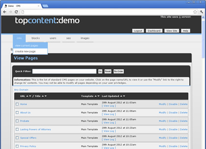 Bespoke Content Management System